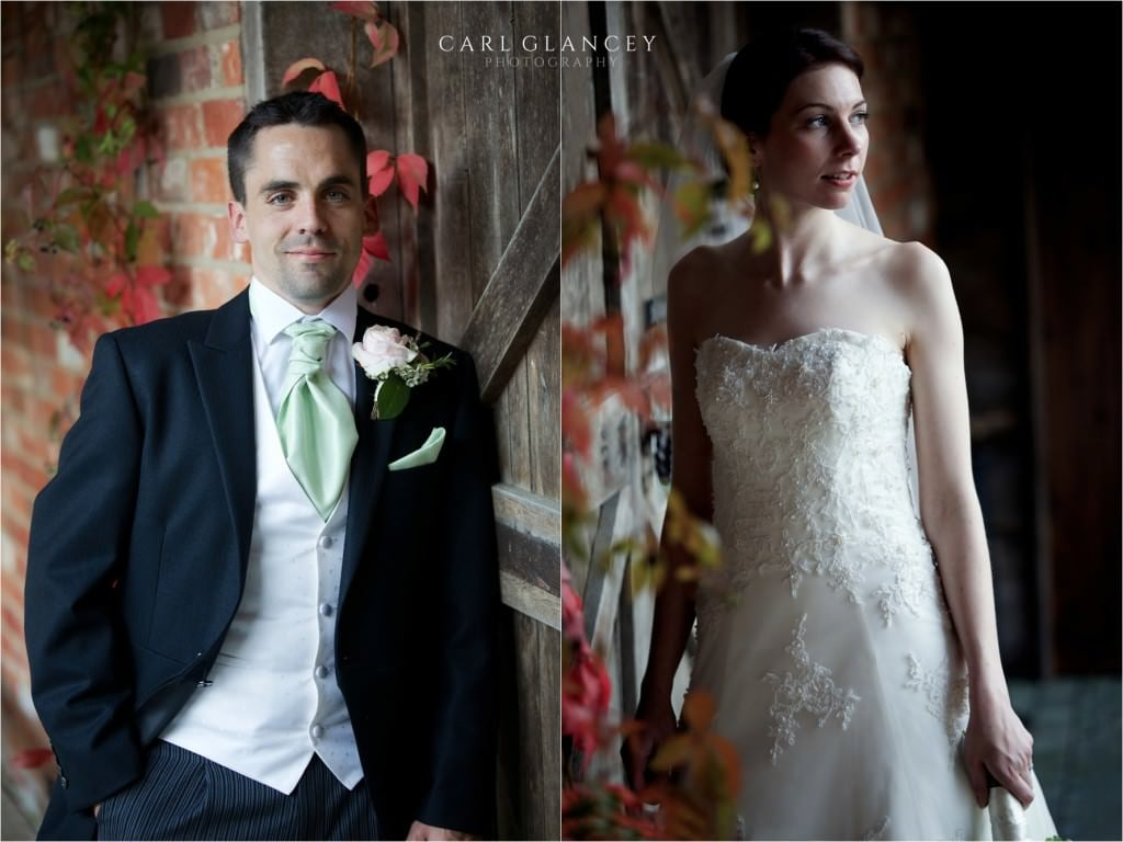portraits of bride and groom
