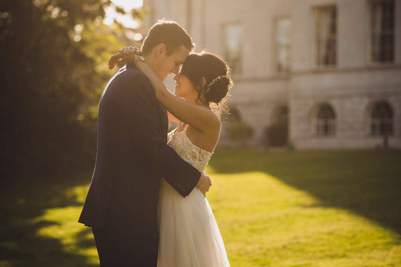couple in the evening sunshine at Addington palace